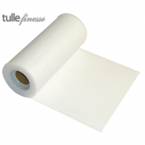 "White Tulle Ribbon 6"" x  25 yards 